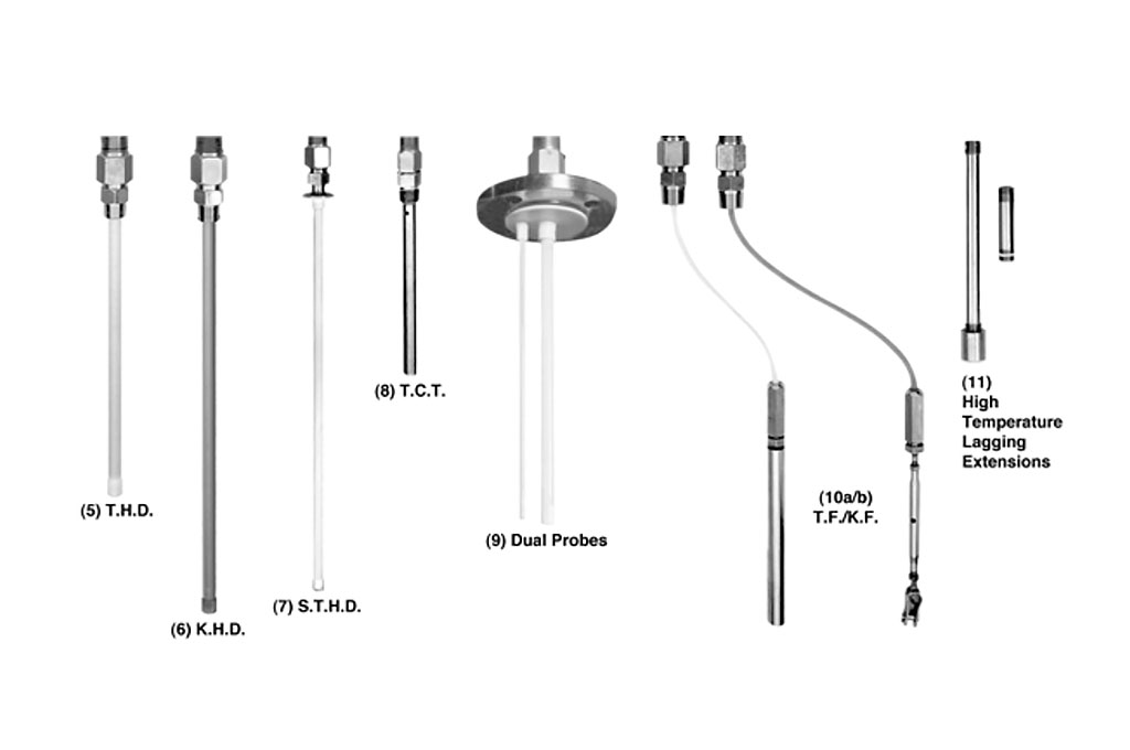 Photo of Sensing Probes for 400 & 500 Series R.F. Capacitance Probes